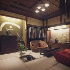 Dazzling Asian Home Decor article example 4077939278 - Attractive and elegant Asian styling information. Japanese Style House, Japanese Interior Design, Japanese Home Decor, Asian Home Decor, Cafe Interior, Apartment Interior, Room Interior, Japanese Apartment, Tatami Room