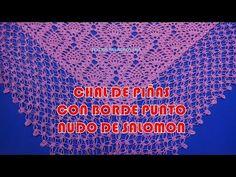 Borde Punto Nudo de Solomon o Espuma de Mar para Chales a Crochet - YouTube