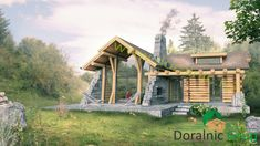 Proiect Doralnic 7 Case din busteni - Cabane din lemn Design Case, Wood Construction, Home Fashion, Woodworking Projects, Cabin, House Styles, Motorcycles, Home Decor, Houses