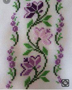 Celtic Cross Stitch, Blackwork Cross Stitch, Cross Stitch Rose, Simple Cross Stitch, Cross Stitch Flowers, Cross Stitching, Cross Stitch Embroidery, Hand Embroidery, Easy Cross