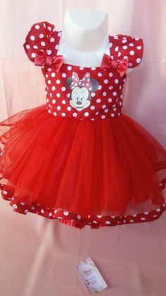 Vestido Minnie hecho por Mara confecciones loi ferreira