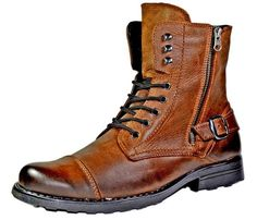 Zeke Ankle Length Winter Leather Boot Reindeer Leather - Mens Boots - Ideas of Mens boots Stylish Mens Fashion, Mens Boots Fashion, Men's Fashion, Fashion Styles, Winter Fashion, Leather Men, Leather Boots, Leather Jackets, Pink Leather