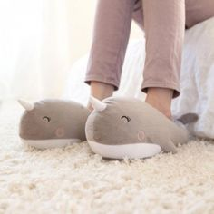 Narwhal Heated Footwarmers Slippers (USB Wired)
