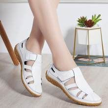 Women Gladiator Sandals Shoes Genuine Leather Hollow out Flat Sandals Ladies Casual Soft bottom Summer Shoes Women Beach Sandal(China) Leather Gladiator Sandals, Leather Flats, Flat Sandals, Cheap Womens Sandals, Womens Summer Shoes, Woman Beach, Comfortable Sandals, White Shoes, Fashion Shoes