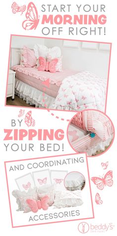 """Start your morning off right! With Beddy's we make it easy. All you do is zip! Use code """"PINTEREST"""" for a discount. #beddys #beddysbeds #zipperbedding #zipyourbed #bunkbeds Floral Bedroom Decor, Boho Decor, Kid Rooms, Small Rooms, Nursery Ideas, Bedroom Ideas, Beddys Bedding, Zipper Bedding, Shared Bedrooms"""