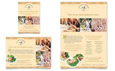 Catering Company Flyer and Ad Template Design by StockLayouts