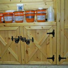 Barn Door Style Kitchen Cabinets
