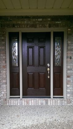 Just look at this stain of this front door! So Nice! CertaPro of Bloomington-PeoriaIL & 6 panel door with 8 lite over 1 panel sidelites | Upstate Door ...