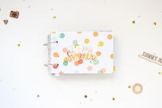 Summer #MiniAlbum by ScatteredConfetti for #GossamerBlue // #scrapbooking