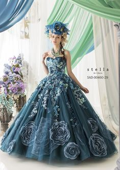 An amazing blue dress. She'd have a hard time flying, but it would be worth it.
