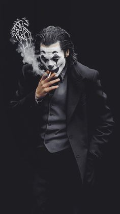 Joker Smoke Laugh iPhone Wallpaper - iPhone Wallpapers