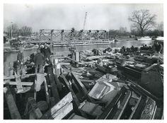 18th February 1970: building the bridge.