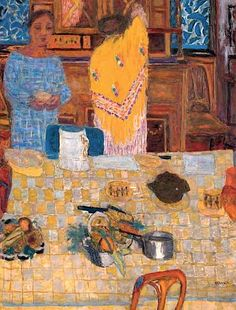 The Yellow Shawl - Pierre Bonnard  Art Experience NYC  www.artexperiencenyc.com