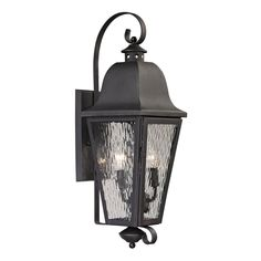 Forged Brookridge 2 Light Outdoor Sconce In Charcoal 47101/2