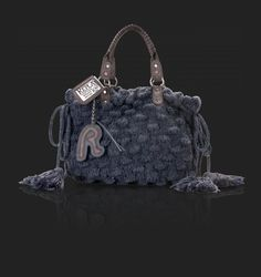 Ladies' beauty case grey blue - REPLAY #knitbag #madeinitaly