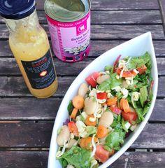 Nordisk grill salat: nem aftensmad med bønner