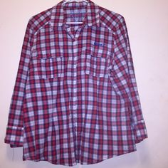 Seven 7 Flannel Shirt Navy & Red Flannel shirt * good condition * adorable flannel!!!! Seven7 Tops Button Down Shirts