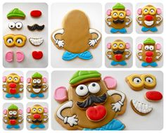 Oh Sugar Events: Play With Your Food Collaborative Project - Mr.Madea would lose her mind if I made these. Cookies For Kids, Cute Cookies, Cupcake Cookies, Valentine Cookies, Cookies Decorados, Galletas Cookies, Iced Sugar Cookies, Royal Icing Cookies, Iced Biscuits