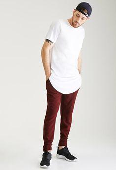 Textured Two-Tone Sweatpants   21 MEN   #f21men