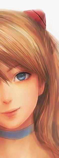 [Asuka Langley - NGE] Una de las mejores y más bellas imágenes que he visto sobre este anime. (Y fue hecha por mi, modestia a parte)