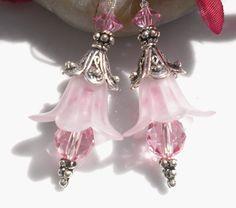 Earrings Romantic Renaisannce Rose Tulips w by MagdaleneJewels, $32.00