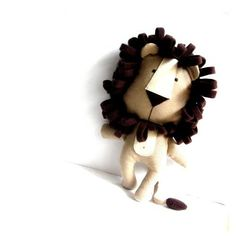 LION stuffed rag doll Softies, Doll Toys, Pet Toys, Baby Toys, Lion Toys, Diy Y Manualidades, Fabric Toys, Sewing Toys, Stuffed Animals
