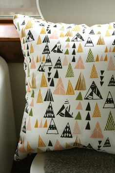 Triangles pillow cover from Leah Duncan (via Where the Lovely Things Are)
