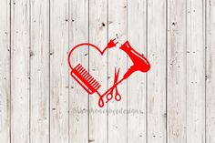 Hair Stylist Decal, Hairdresser Decal, Cosmetology Student Decal, Hair dryer Decal, Scissors Decal, Comb Decal, Gift for Her by ShopHoneyBeeDesigns on Etsy