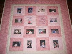 memory quilt with embroidery