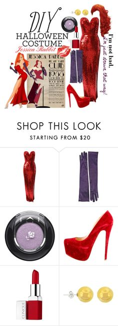 """DIY Halloween Costume: Jessica Rabbit"" by brittanylangland ❤ liked on Polyvore featuring Jane Norman, Lancôme, Christian Louboutin, Clinique and Lord & Taylor"