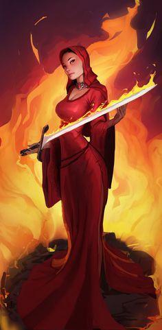 ArtStation - Game Of Thrones - Melisandre, Gavin Mackey Fantasy Characters, Female Characters, Got Merchandise, Character Art, Character Design, Character Concept, Game Of Thrones Tv, Game Of Trones, Dibujo
