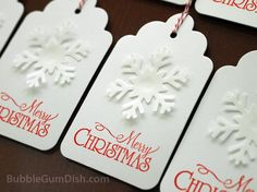 idea for gift tags with theme printed on them