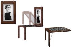 fold tabl, sewing tables, kitchen tables, murphi tabl, basement idea