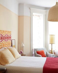 Color Trend Spotting: Two-Tone Walls make the ceilings look taller!