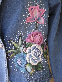 $220 Stunning OOAK Flower Embellished Sequin Beaded by GlamourZoya