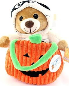 Halloween Plush Bear In Mummy Costume With Purse FV
