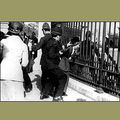For maximum publicity locations were chosen carefully, such as Buckingham Palace where suffragettes chained themselves to the railings as they regarded the Royal Family to be opponents of their cause.    More violent protests saw the planting of bombs, including one that destroyed part of future prime minister David Lloyd George's house.