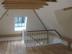 accommodation above a garage plans WM Garage Stairs, Room Above Garage, Garage Loft, Loft Staircase, Attic Stairs, Attic Bedroom Designs, Attic Bedrooms, Oak Framed Buildings, Building Stairs