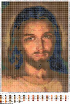 Patrón punto de cruz - ROSTRO PRECIOSO DE JESÚS