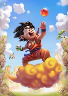 Dragon Ball - Son Goku by Rodrigo Pascoal Illustrators, Illustration, Dbz Art, Dragon Ball Goku, Art, Anime, Anime Dragon Ball Super, Dragon, Fan Art