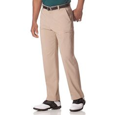 Men's Chaps Classic-Fit Performance Cargo Golf Pants, Size: 30X32, Brown