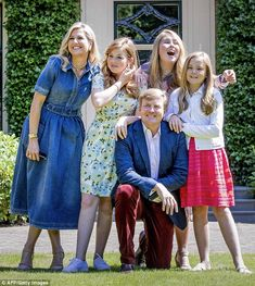 Dutch Royal Family posed for the annual summer photoshoot at Villa Eikenhorst in Wassenaar 13 Jul 2018