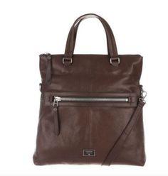 FOSSIL Dawson Leather Foldover Shoulder Bag Tote ESPRESSO NWT $268 #Fossil #ShoulderBagTOTE
