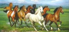 imagenes de pinturas de caballos en 3 lienzosoleo - Buscar con Google