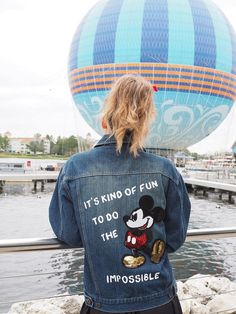 0b2c235ac2 Its kind of fun to do the impossible -Walt Disney Show off your love for  Mickey in this one-of-a-kind vintage jean jacket