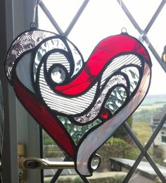 stained glass heart by Tania Prescott