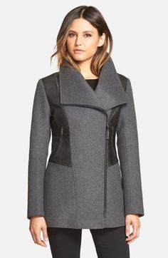 Mackage Wide Collar Wool Blend Coat Was: CAD 866.32 Now: CAD 599.63