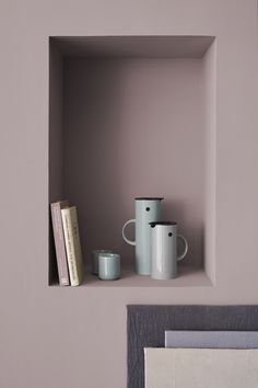 Sophisticated use of pastels in clean line minimalist interior