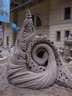 Downtown Toronto-Sand Sculpter-Garden Show-CNE 2010 Sand Sculptures, Sculpture Art, Downtown Toronto, Garden Show, Sand Art, Amazing Art, Gallery, Statues, Castles