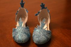 Children's Elsa from Frozen Inspired Snowflake Hand Decorated Shoes with Heels on Etsy, $52.00